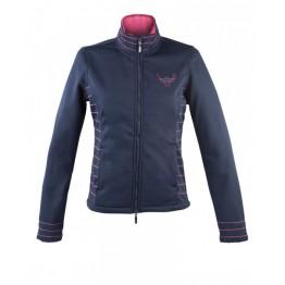 Softshell jakna DENHAM, S, modra/roza